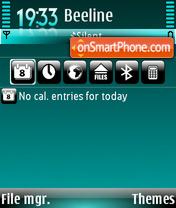 Aquamarine 01 es el tema de pantalla