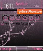 Скриншот темы Floral 04