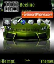 Green Car 01 theme screenshot