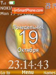 Clock, Russian date anim theme screenshot