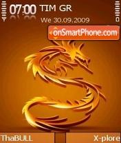 Скриншот темы Golden Dragon 01