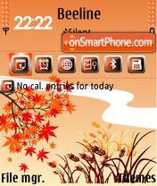 Red Autumn 01 tema screenshot