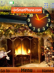 Скриншот темы Near fireplace SWF