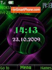Clock, date, animation theme screenshot