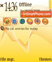 Juicy Orange theme screenshot