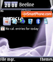 Nokia Haze default theme screenshot