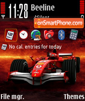 Ferrari F1 01 theme screenshot