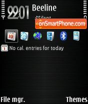 Скриншот темы Three Default