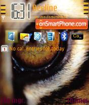 Wild Tiger Eyes theme screenshot