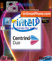Intel Inside Cenrino Duo theme screenshot