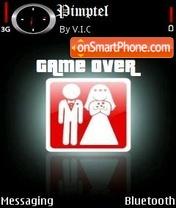 Game Over es el tema de pantalla