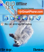 Скриншот темы Swingig Cat