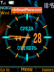 Analog clock & date Theme-Screenshot