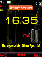 Clock & indicator theme screenshot