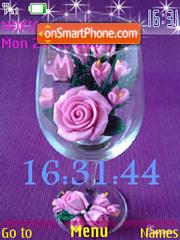 SWF roses in vase es el tema de pantalla