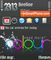 Colour 01 theme screenshot