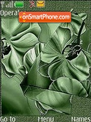 Скриншот темы Green orchids