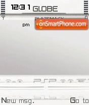 White Psp tema screenshot