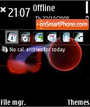 Fire ball 01 theme screenshot