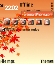 Red Autumn E71 theme screenshot