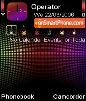 Colourful theme screenshot