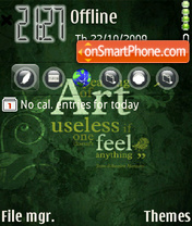 Green Art 02 theme screenshot