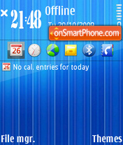 Bright Blue V2 theme screenshot