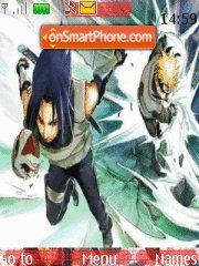 Naruto and Sasuke theme screenshot