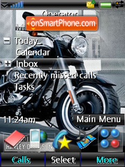 Harley fat boy tema screenshot