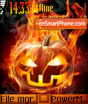 Halloween pumpkin faces tema screenshot