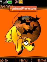 Halloween Pluto tema screenshot