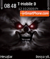 Скриншот темы Haunted Skull