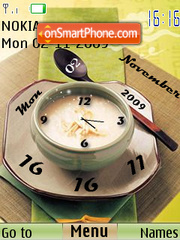 Break Fast SwF Clock Theme-Screenshot