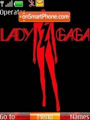 Lady Gaga theme screenshot