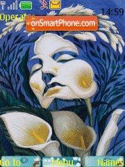 Flower Art theme screenshot