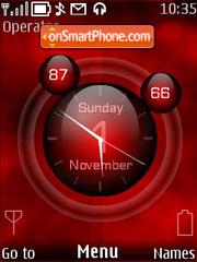 Red Space theme screenshot