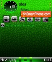 Скриншот темы Green Rain