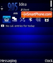 Blue Experia theme screenshot