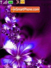 Dark blue flowers es el tema de pantalla