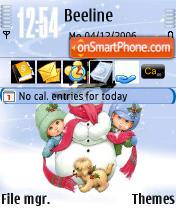 Sweet Snow es el tema de pantalla