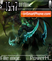Devil Illidan tema screenshot