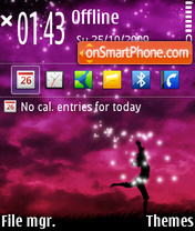 Dancing Girl theme screenshot