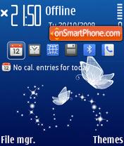 Скриншот темы Blue Butterfly 03