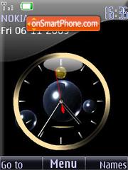 Скриншот темы Clock analog animated2