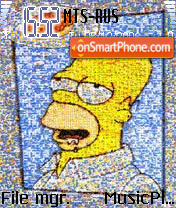 Simpson 1 theme screenshot