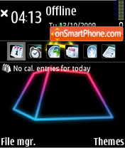 Neon Pyramid theme screenshot