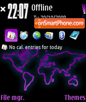Purpleworld theme screenshot