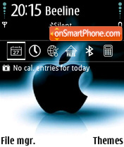 Dark Apple 01 theme screenshot