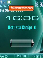 Clock, date & battery es el tema de pantalla