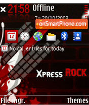 Red Rock Music theme screenshot